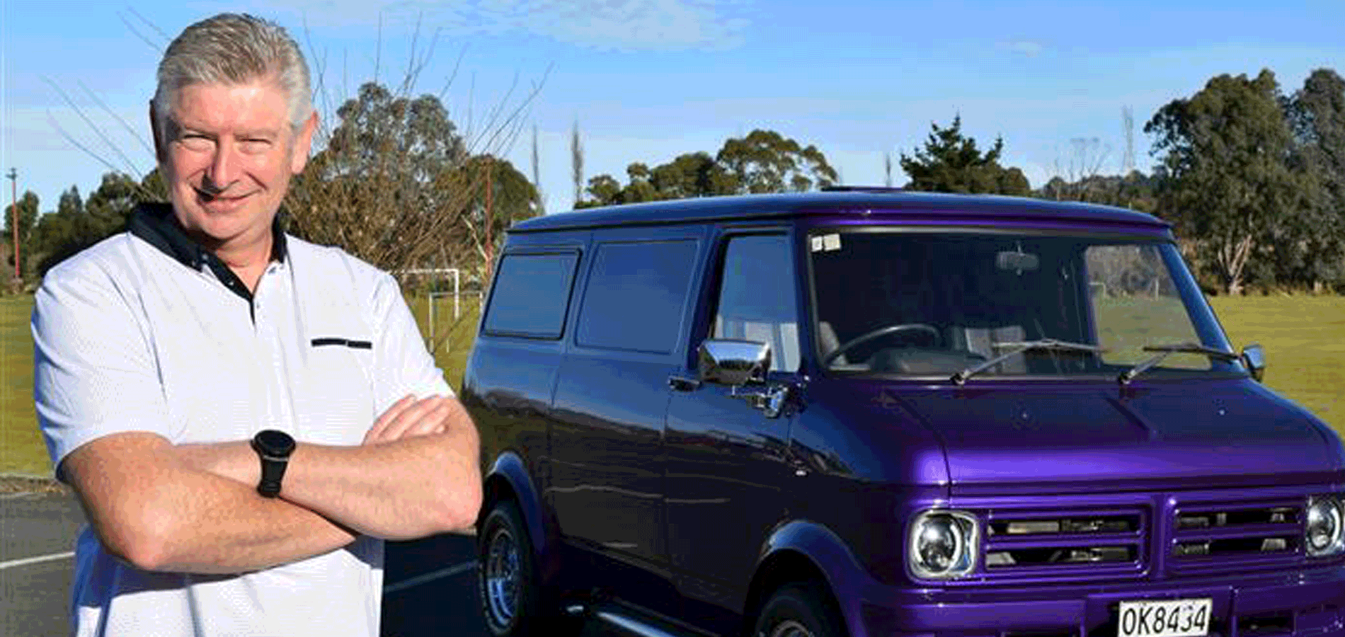 'I Just Want To Get It On The Road' Shawn McAvinue Talks To Michael Lobb About His Purple '75 Bedford CF Van
